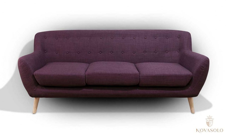 Vigo 3-seter sofa (lilla) - NovaSolo.no