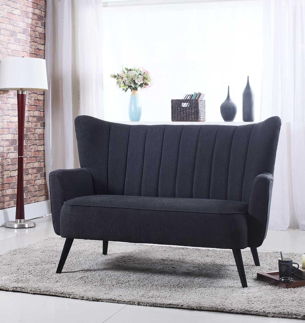 Storslått Mayfair 2-seter sofa (mørk grå) - NovaSolo.no BH-04