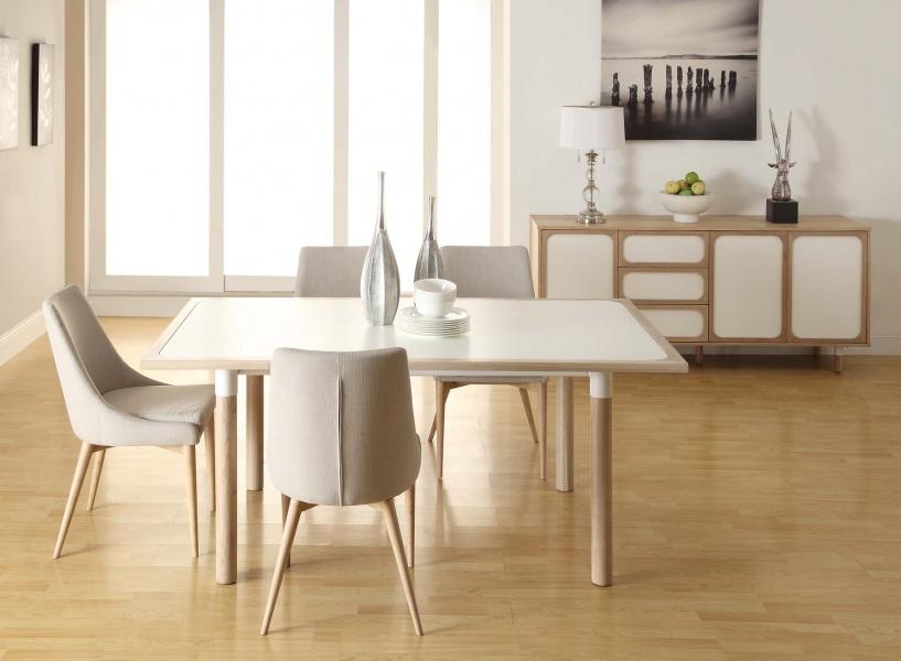 Vigo spisebord (Hvit/eik - 180x90) - NovaSolo.no