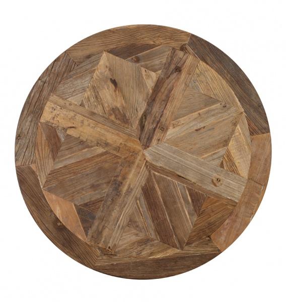 Rundt avignon spisebord i resirkulert alm (diameter 100 cm ...