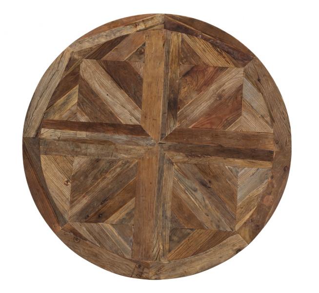 Rundt avignon spisebord i resirkulert alm (diameter 180 cm ...