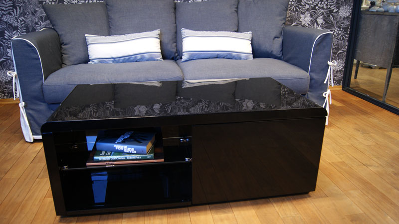 Cleo høyglans sofabord (hvit) NovaSolo.no