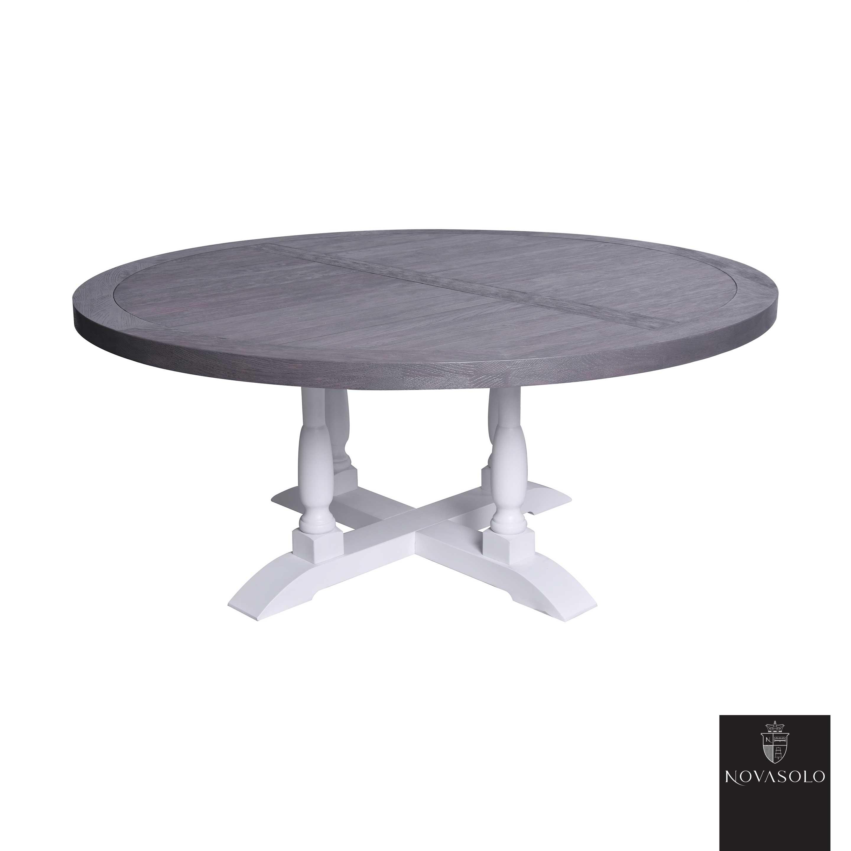 old amsterdam rundt spisebord m hvite ben 140 cm diameter available ...
